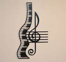 Treble Sign Treble Clef And Staff With Piano Metal Sign Home Decor