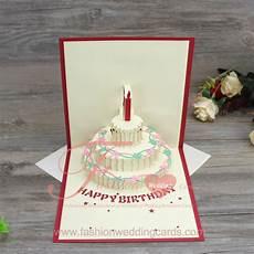 Cards Of Happy Birthday 3d Pop Up Handmade Birthday Cake Shape Greeting Cards