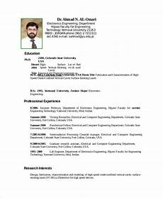 Electronics Engineer Resume Samples Electronics Resume Template 8 Free Word Pdf Document
