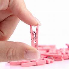 miniature light pink wood clothespins it s a theme