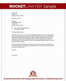 Child Support Letters Child Support Review Letter Request Review With Sample