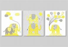 Jeffs Color Chart Gray And Yellow Nursery Art Elephant Balloons Gender