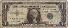 Silver Certificate Dollar Bill Value Chart 1957 Silver Certificate Dollar 1 Blue Seal Series A