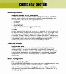 Company Profile Format In Word Free Download 21 Free 32 Free Company Profile Templates Word Excel