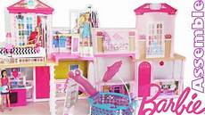 Barbie Doll House With Lights Barbie 31 Inch Dollhouse Party Pool House Mansion Assemble