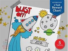 Rocket Ship Reward Chart Rocket Ship Reward Chart 5 Tasks Editable Pdf