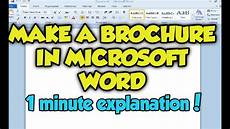 How To Create A Brochure In Word How To Make A Brochure In Microsoft Word 2013 Microsoft