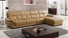 free shipping modern design sofa yellow top grain cattle