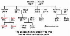 Blood Type Heredity Chart Biology Exam 4 Hints