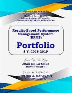Editable Cover Page Rpms Portfolio Front Cover