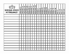 Sunday School Attendance Sheets Spring 2019 Sunday School Attendance Chart By Elisabeth