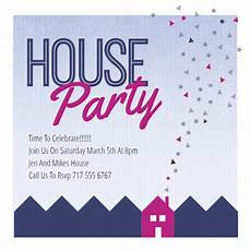 Party Invation Purple Party Place House Party Invitation Template Free