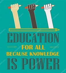 education poster education for all poster stock vector 169 danielala 77368788