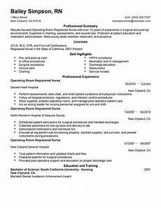 Rn Duties For Resume Best Operating Room Registered Nurse Resume Example