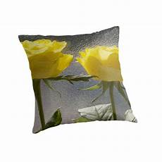 Yellow Accent Pillows For Sofa Png Image by Quot Yellow Roses Quot Throw Pillows By Michaelterryart Redbubble