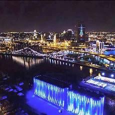 Buffalo Ny Light Show Buffalo Skyline At Night So Beautiful Ny Skyline