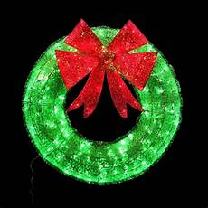 Outdoor Christmas Wreaths With Led Lights 36 Quot Christmas Wreath Twinkling Lighted Red Green Sparkle