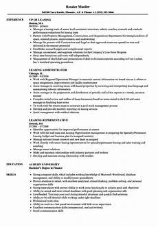 Leasing Specialist Resume Leasing Resume Samples Velvet Jobs