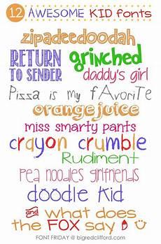 Fun Fonts Font Friday New Favorite Kid Amp Handwriting Fonts