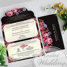 undangan simple hitam elegan undangan pernikahan