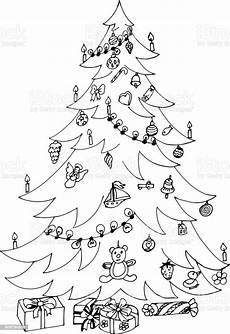 Ausmalbild Weihnachtsbaum Mit Geschenken Weihnachtsbaum Mit Geschenken Stock Vektor Und Mehr