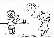 Malvorlagen Kostenlos Ausdrucken Und Spielen Ausmalbild Sommer Kinder Spielen Wasserball Kostenlos