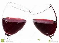 bicchieri di due bicchieri di con rosso fotografia stock