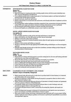 Resume Sample Of Sales Manager Hotel Sales Manager Resume Samples Velvet Jobs