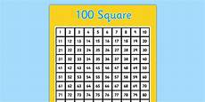 100 Square Pocket Chart 100 Square Template Number Square Hundred Square