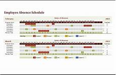 Employee Absence Template Ms Excel Employee Absence Schedule Template Excel Templates
