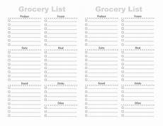 Printable Grocery List By Category 28 Free Printable Grocery List Templates Kitty Baby Love