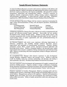 Resume Paper Target Sample Resume Summary Statements Statement Examples