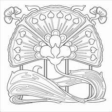 malvorlagen jugendstil zeichnen und f 228 rben
