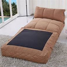 gold sparrow convertible bean bag chair bed in