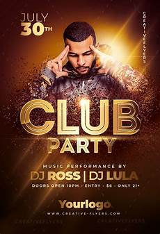 Flyer Partys Club Party Flyer Template For Print Creative Flyers