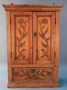 1800s antique mexican revival wood wall cabinet