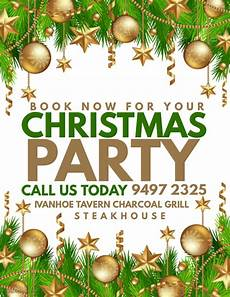 Christmas Poster Templates Book Now For Your Christmas Party
