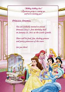Princess Party Invitations Printable Free Disney Princesses Birthday Party Invitation Free
