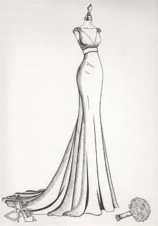 Dress Designing Sketches Wedding Dress Sketch Wedding Dress Ink