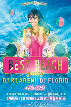 Beach Party Flyer Template Free Best Beach Party Flyer Free Psd Template By Klarensm On