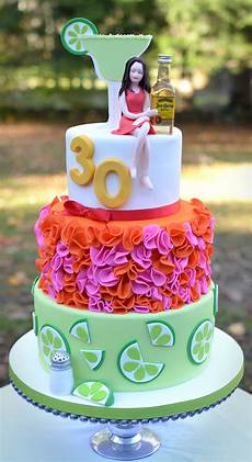 30th Birthday Cake Designs For Her Margarita And Tequila Themed 30th Birthday Cake