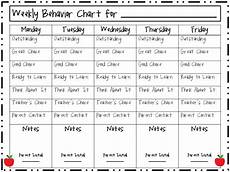 Weekly Behavior Chart Weekly Behavior Charts New Calendar Template Site