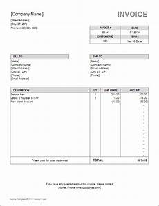Bill Invoice Template Word 10 Simple Invoice Templates Every Freelancer Should Use