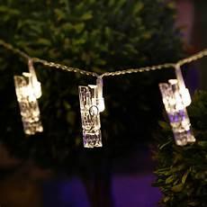 Warm White Hanging Christmas Lights 2m Warm White Light Photo Clip Led Fairy String Light 20