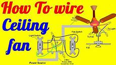 How To Wire 3 Lights To One Switch Diagram How To Wire Ceiling Fan With Light Switch Youtube