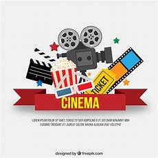 Cine Designer R2 Free Download Red Cinema Ribbon With Movie Elements Vector Free Download