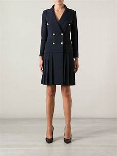 dressy coats for moschino breasted coat dress in blue lyst