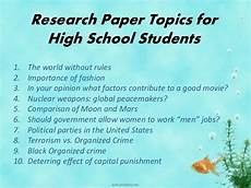 Research Paper Topics What Is A Good Topic For A Research Proposal Quora