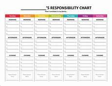 My Responsibility Chart Complete Housekeeping Printable Set Gone Like Rainbows