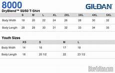 Gildan 5400 Size Chart 8000 Gildan Ultra Blend Tee